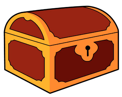 Treasure Chest Logo for Grove's Treasure Trove